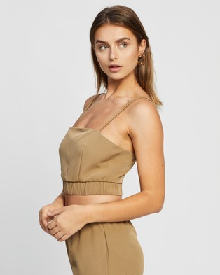 4th & Reckless Aiden Top - Cropped tops (Olive)