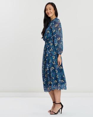Faye Black Label Floral Shirred Dress - Printed Dresses (Floral)