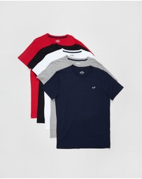 Hollister - 5-Pack Crew Tee Multi Pack