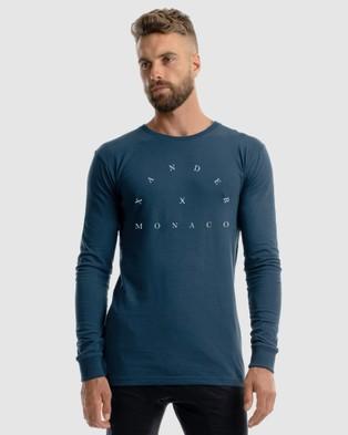 Xander Roulette Long Sleeve Tee - T-Shirts & Singlets (BLUE)