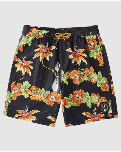 Billabong - Dr. Seuss The Grinch Groms Aloha Layback Boardshorts
