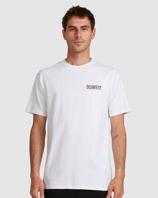 DC Shoes Mens Old School Short Sleeve T Shirt  - Short Sleeve T-Shirts (White)