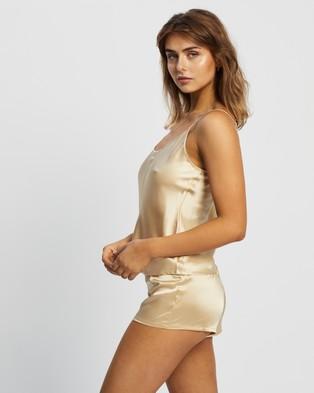 La Perla Silk Short Pyjamas - Two-piece sets (Beige Stone)