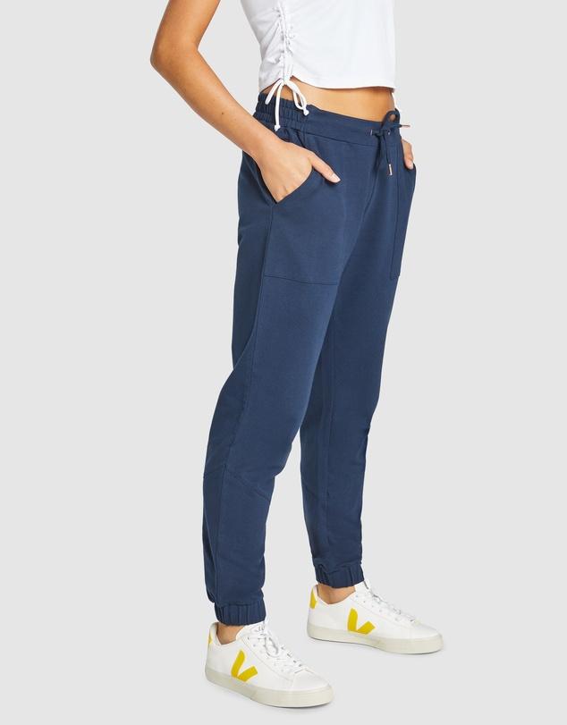 Women Twill Zip Detail Casual Pant