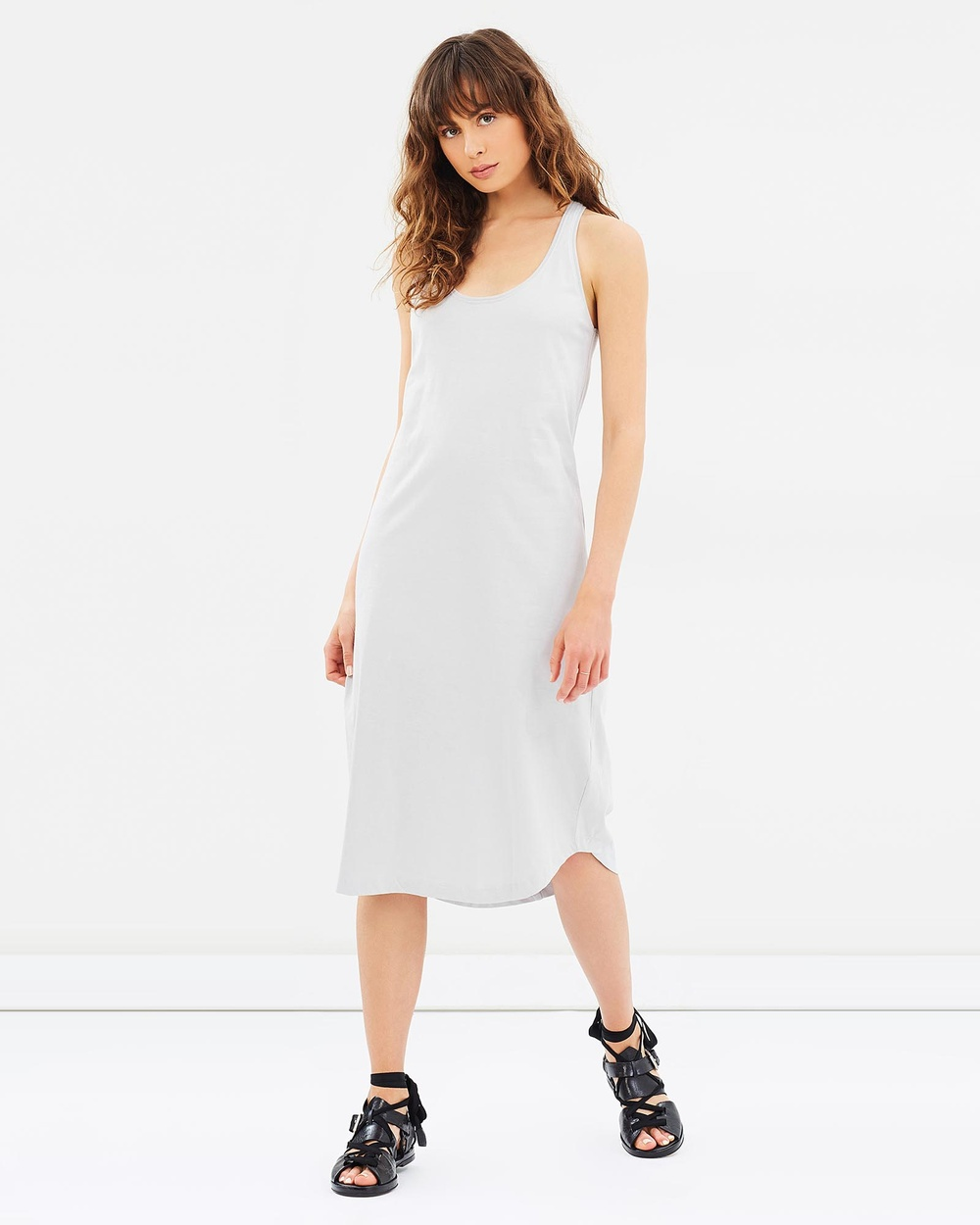 Cloth & Co. Organic Cotton Singlet Dress Dresses Grey Organic Cotton Singlet Dress