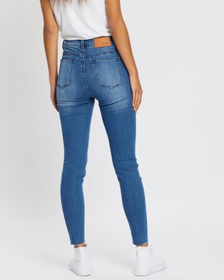 Silent Theory The Vice High Skinny Jeans - High-Waisted (BLUE)
