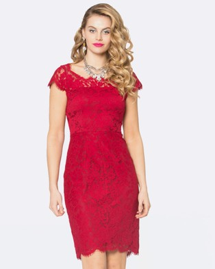 Alannah Hill – The Silver Moon Dress Red
