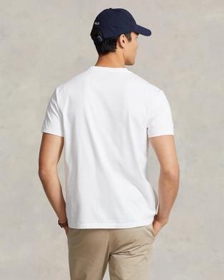 Polo Ralph Lauren - Classic Fit Jersey Crew Neck T Shirt - T-Shirts & Singlets (White) Classic Fit Jersey Crew Neck T-Shirt