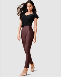 SACHA DRAKE - Skinny High Waisted Pants