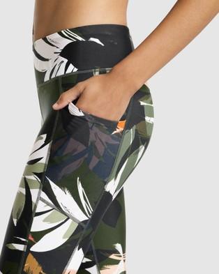 Rockwear Autumn Haze Print Panel Ankle Grazer Tights - Full Tights (HAZE AUTUMN)