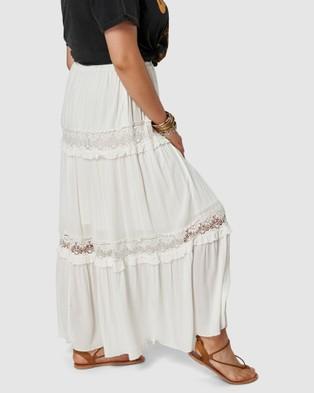 The Poetic Gypsy Bondi Lace Maxi Skirt - Skirts (White)