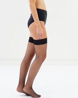 Bluebella Fishnet Leg Hold Ups - Hold Up Stockings (Black)