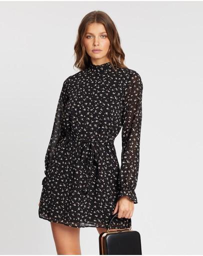 Atmos&here Lola Tie Midi Dress Black