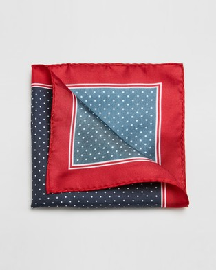 Gant Polka Dot Pocket Square - Pocket Squares (Marine)