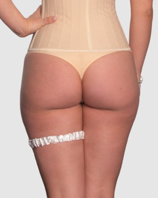 B Free Intimate Apparel Bridal Garter Classic - Lingerie Accessories (Ivory)