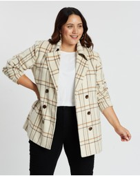 Atmos&Here Curvy - Sarah Double-Breasted Coat