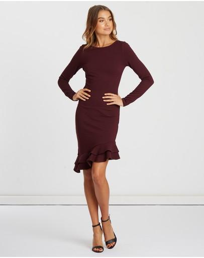 Chancery Libby Frill Midi Dress Plum