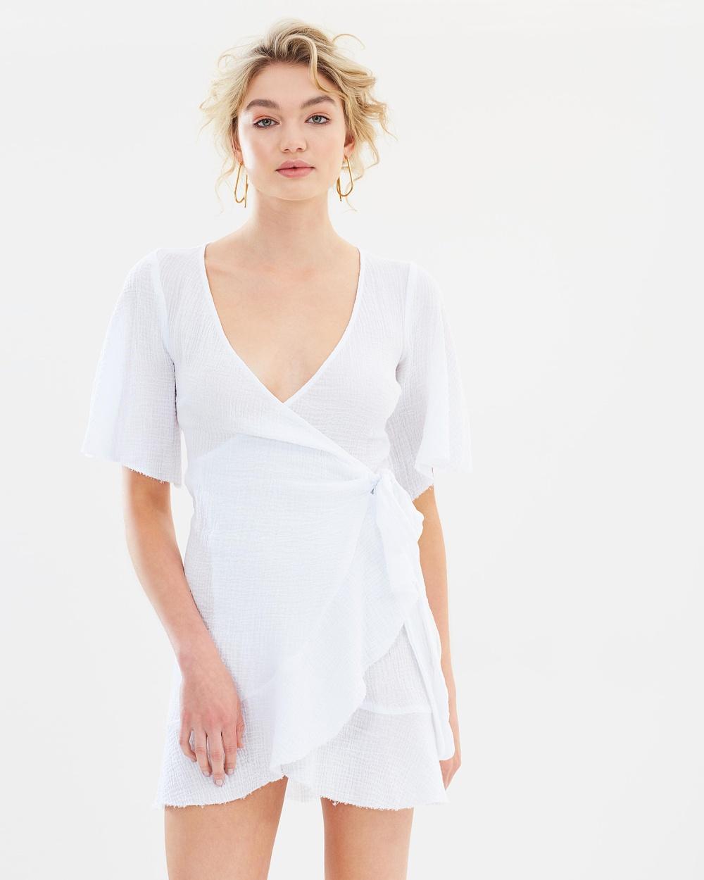 Bec & Bridge Emilie Wrap Dress Dresses White Emilie Wrap Dress