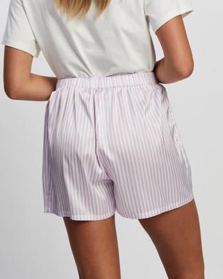 Atmos&Here Stripe Sleep Shorts Sleepwear Lilac