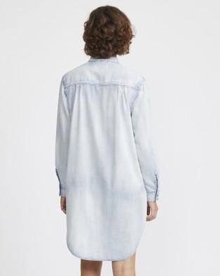 Jac & Mooki Chambray Shirt Dress - Dresses (vintage wash)