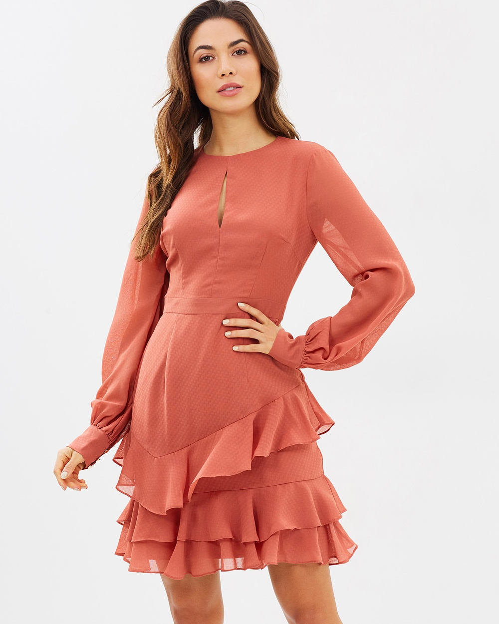 Cooper St Briar Rose Long Sleeve Dress Dresses Cinnamon Red Briar Rose Long Sleeve Dress