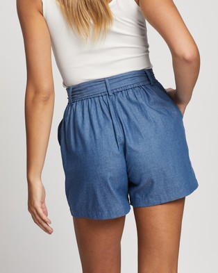 Atmos&Here Eimear Chambray Shorts - High-Waisted (Chambray)