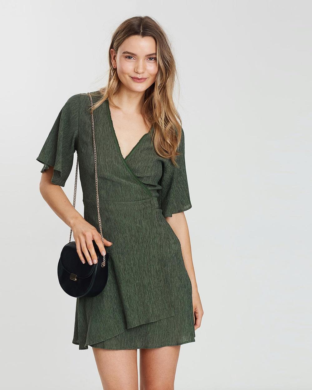 Wish Moss Remy Wrap Dress