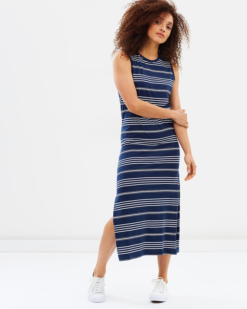 Tee Ink Salty Midi Tank Dress Dresses Navy Salty Midi Tank Dress