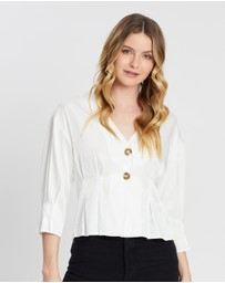 Vero Moda - V-Neck 3/4 Sleeve Blouse