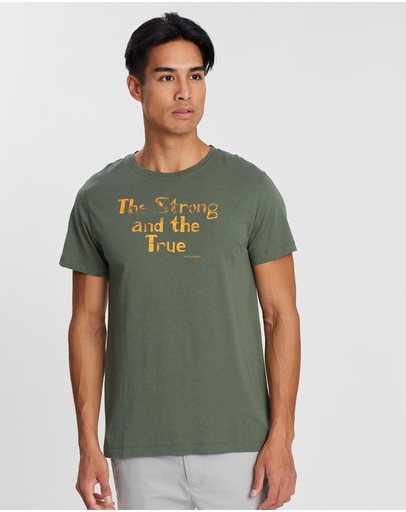Kent And Curwen Printed T-shirt Deep Olive