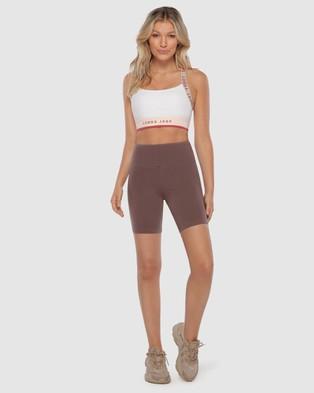 Lorna Jane Relaxed Bike Shorts - 1/2 Tights (Stone)