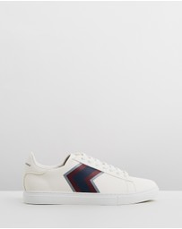 Armani Exchange - Chevron Lace Up Sneakers