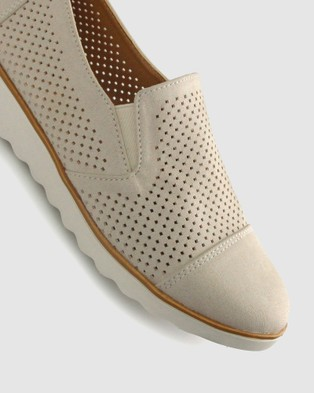 Zeroe Andy Perforated Casual Shoes - Casual Shoes (Nude)