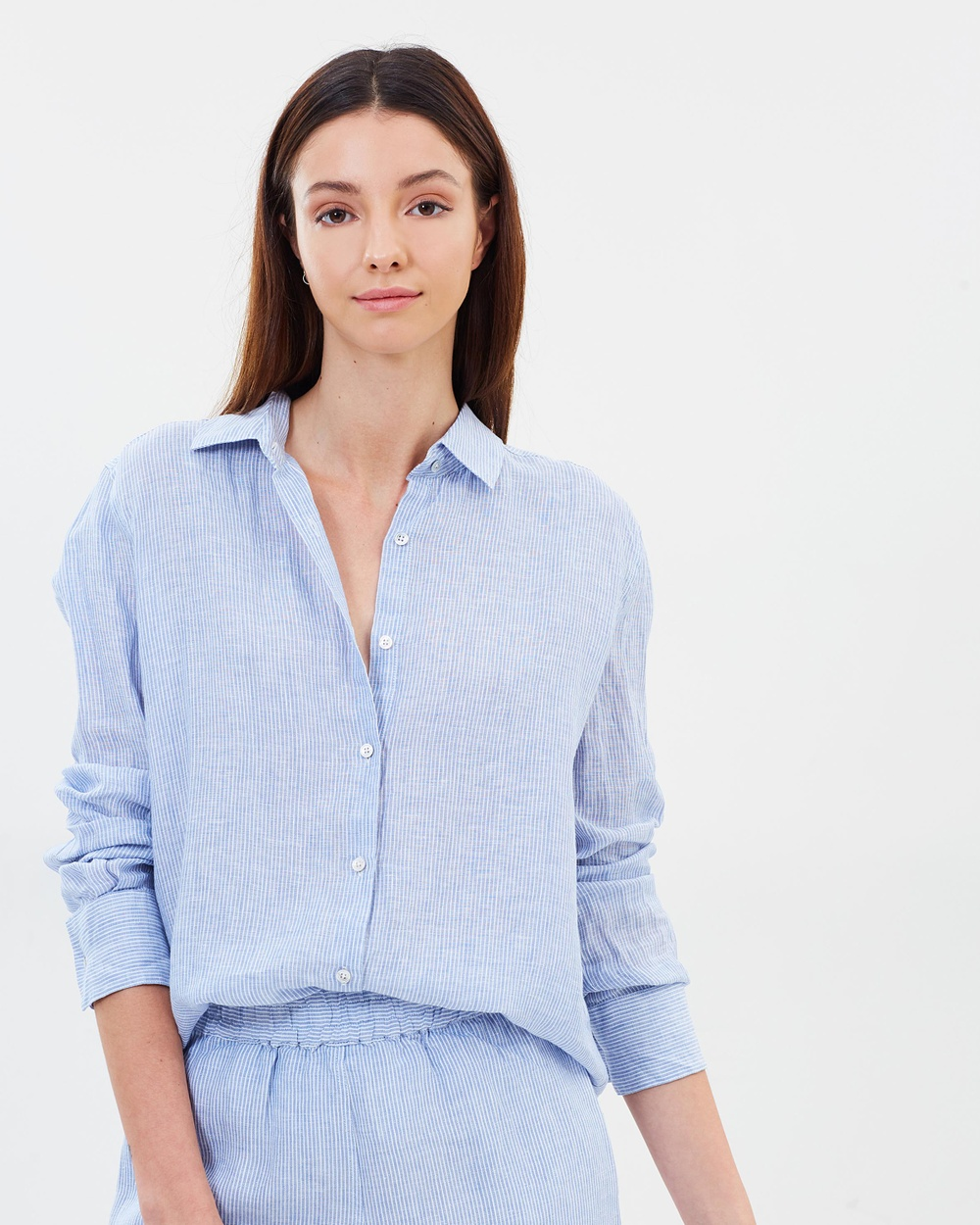 Assembly Label Xander Linen Shirt Tops Bridge Stripe Xander Linen Shirt
