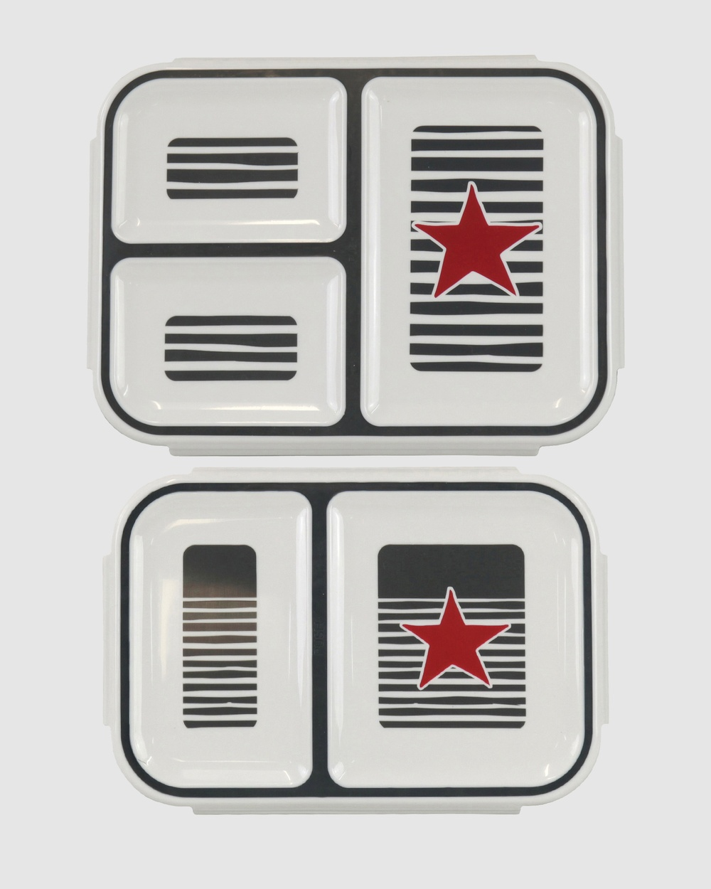Bobbleart Bento Box Pack Star and Stripe Novelty Gifts Grey