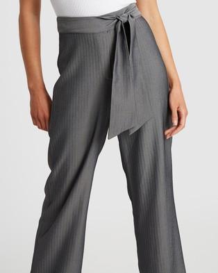 Reux Arabella Tie Pants - Pants (Charcoal)