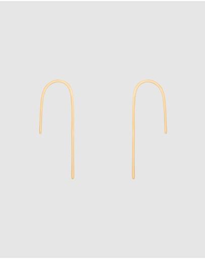 Saint Valentine Loophole Hook Earrings Gold
