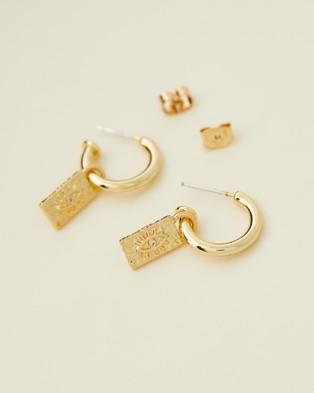 Carly Paiker Raya Huggies - Jewellery (Gold)