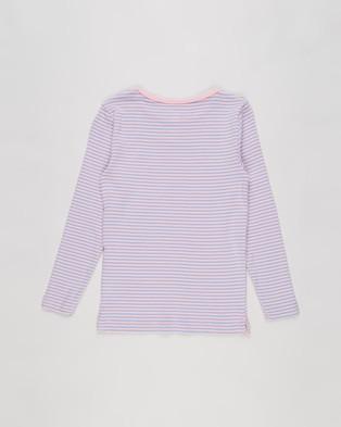 Cotton On Kids - Jessie Crew Tee   Kids Teens - T-Shirts & Singlets (Marshmallow & Summer Sky Stripe) Jessie Crew Tee - Kids-Teens