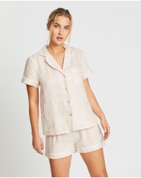 Homebodii - Linen Short PJ Set