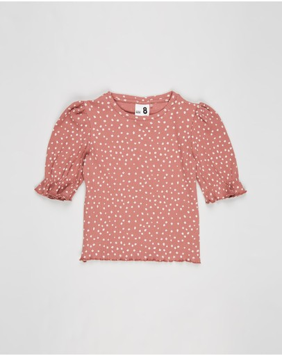 Cotton On Kids - Lyla Rib Trumpet Sleeve Top - Kids-Teens