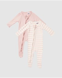 Boody Organic Bamboo Eco Wear - 2-Pack Baby Long Sleeve Onesies