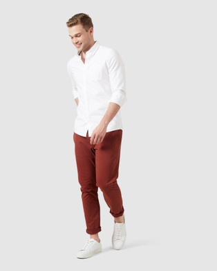 French Connection Slim Fit Stretch Chino Pants - Pants (NEO RUST)