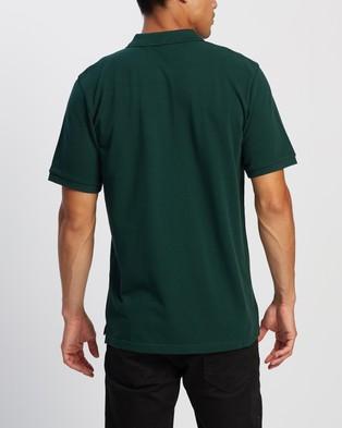 Carhartt SS Chase Pique Polo - Shirts & Polos (Bottle Green & Gold)