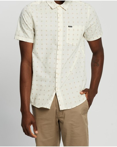 Volcom Milton Short Sleeve Shirt Primer White