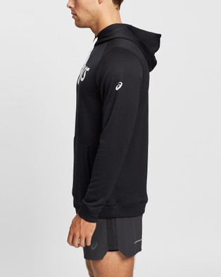 ASICS French Terry Hoodie   Men's - Coats & Jackets (Performance Black/Brilliant White)