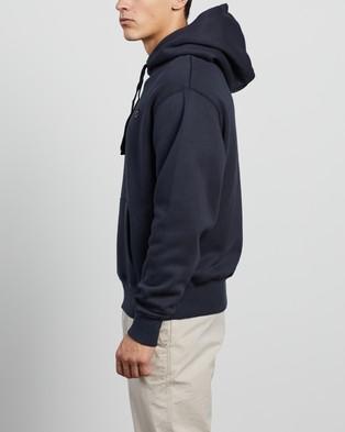 Barney Cools - Badge Hood Hoodies (Slate)