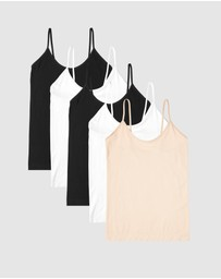Boody Organic Bamboo Eco Wear - 5-Pack Cami Top