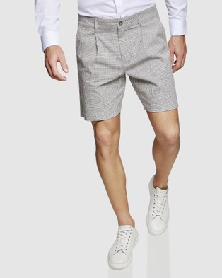 Oxford Lionel Check Shorts - Shorts (Camel)