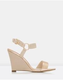Forever New - Dalila 2 Strap Hoop Trim Wedges